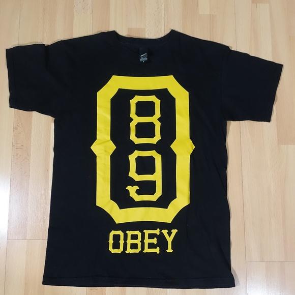 39addec6 Obey Shirts   Vintage 1989 Shirt Black Yellow   Poshmark